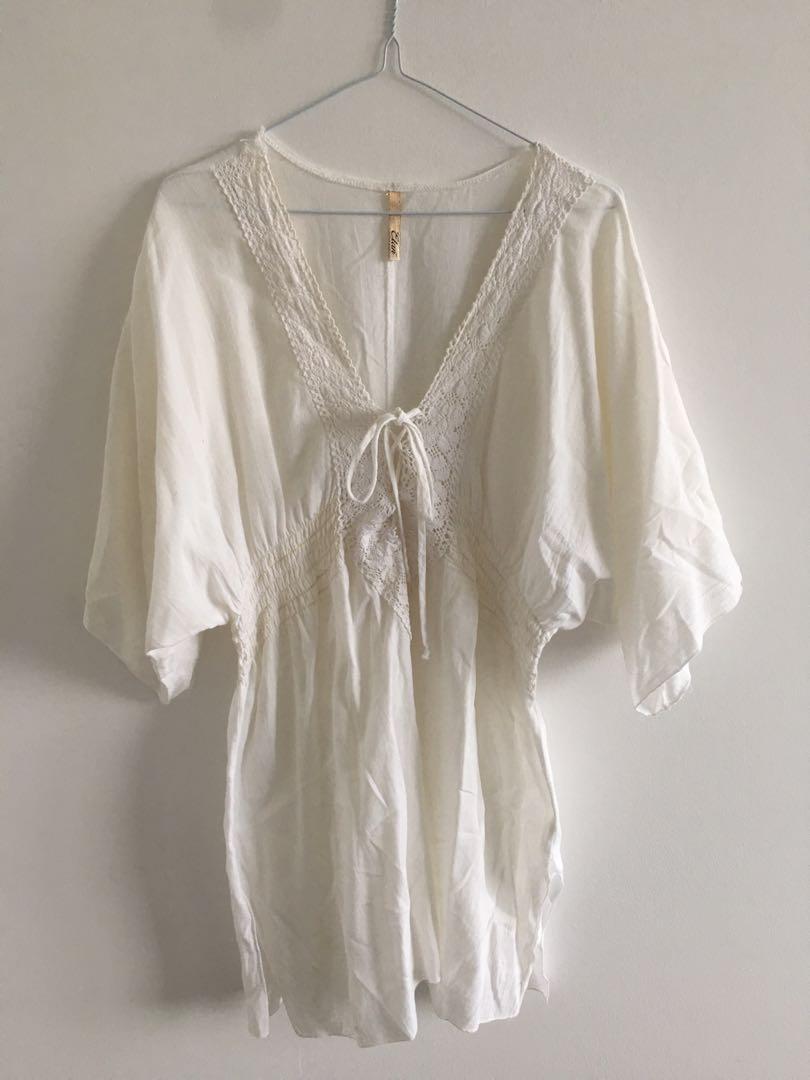 Lace Linen Boho Dress