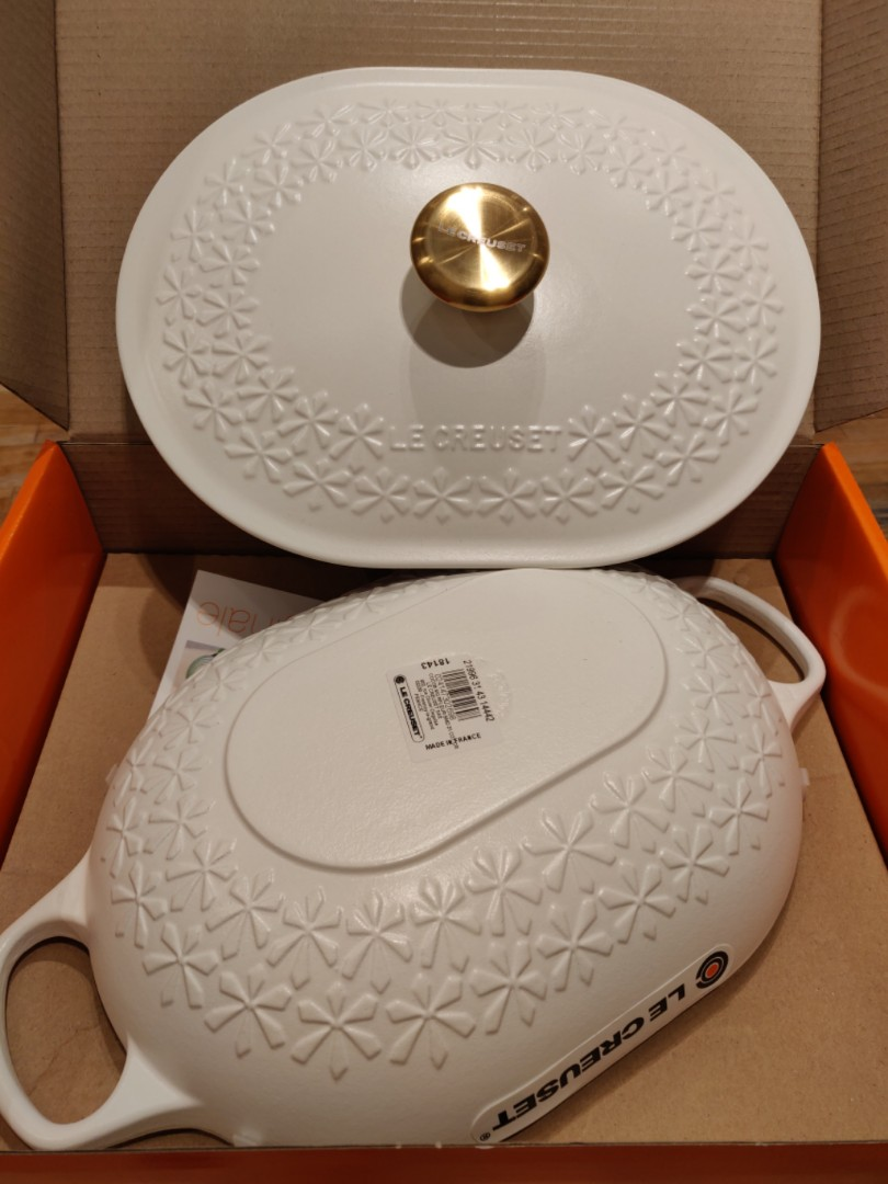 Le Creuset Limited Edition 31cm Oblong Oval Braiser Fleur Pot With