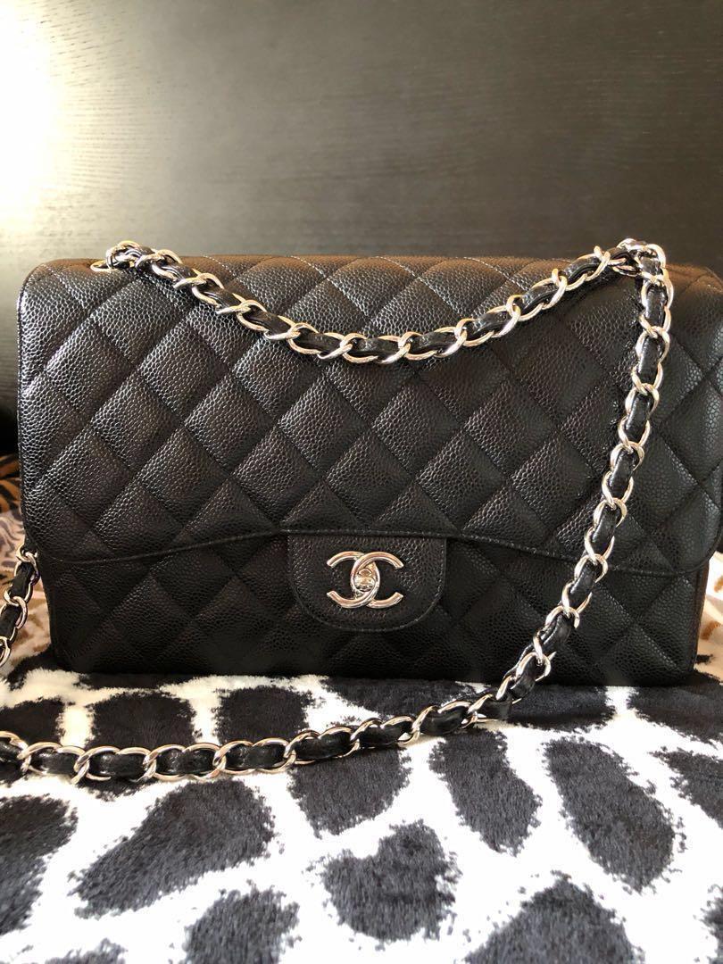 a2919cd3c867 Like New Chanel Jumbo Caviar SHW Double Flap, Luxury, Bags & Wallets ...