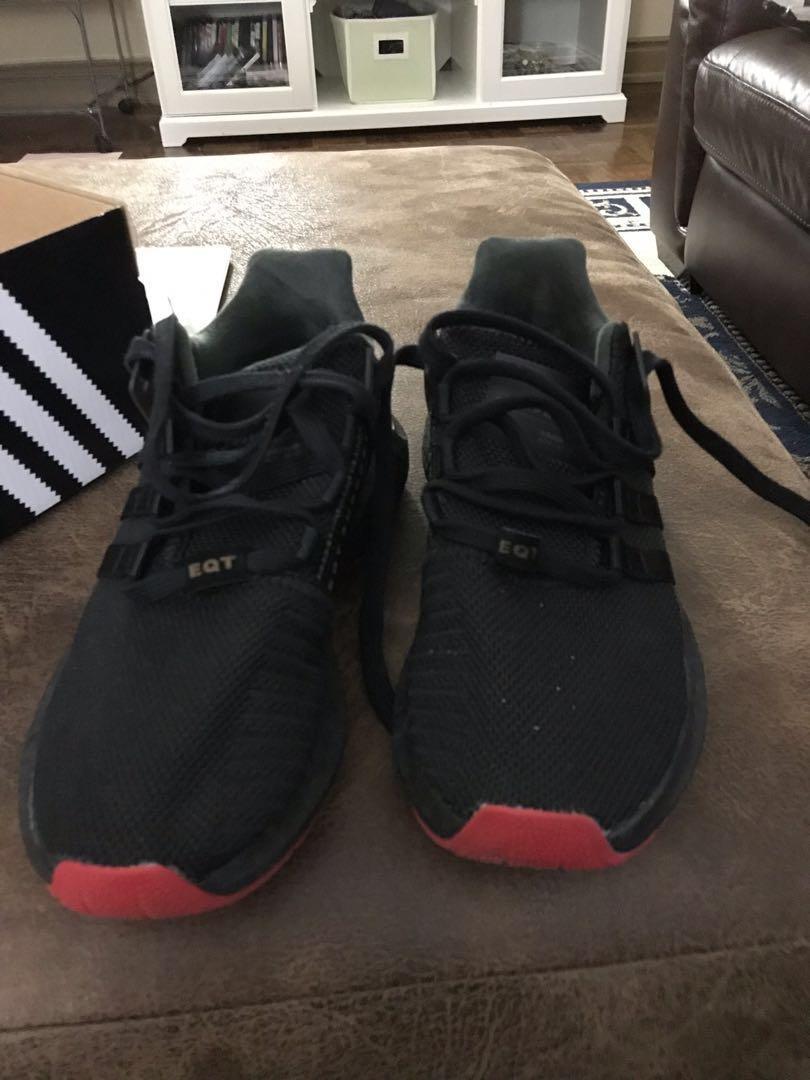 Men's black EQT's size 9 original price $300 worn 2 times $120 a great comfortable shoe!