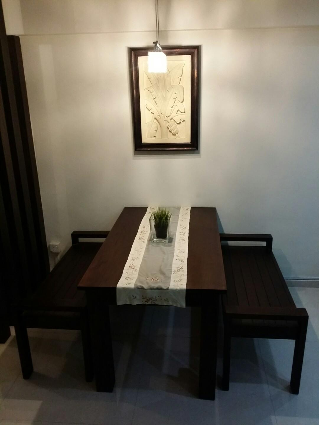 Modern Tropical Teak Wood Dining table set