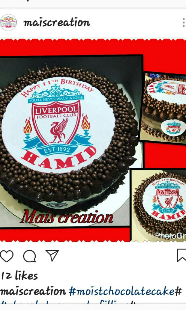 Moist Chocolate Cake.Birthday Cake 1kg, Food & Drinks, Baked Goods ...