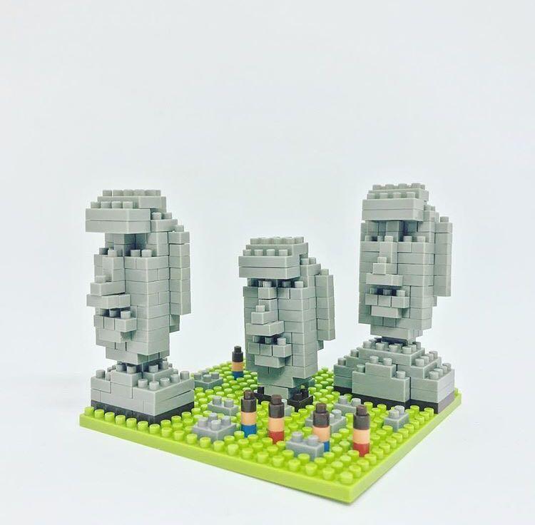Moai Statues of Easter Island Nanoblock Miniature Building Blocks New NBH009