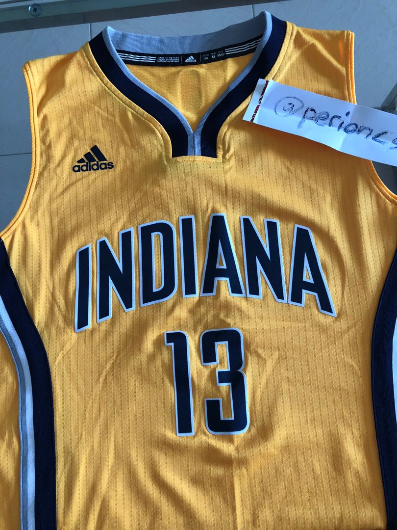 2768f83f NBA x Adidas Jersey Indiana Pacers Paul George ' Alternate ', Sports,  Sports Apparel on Carousell