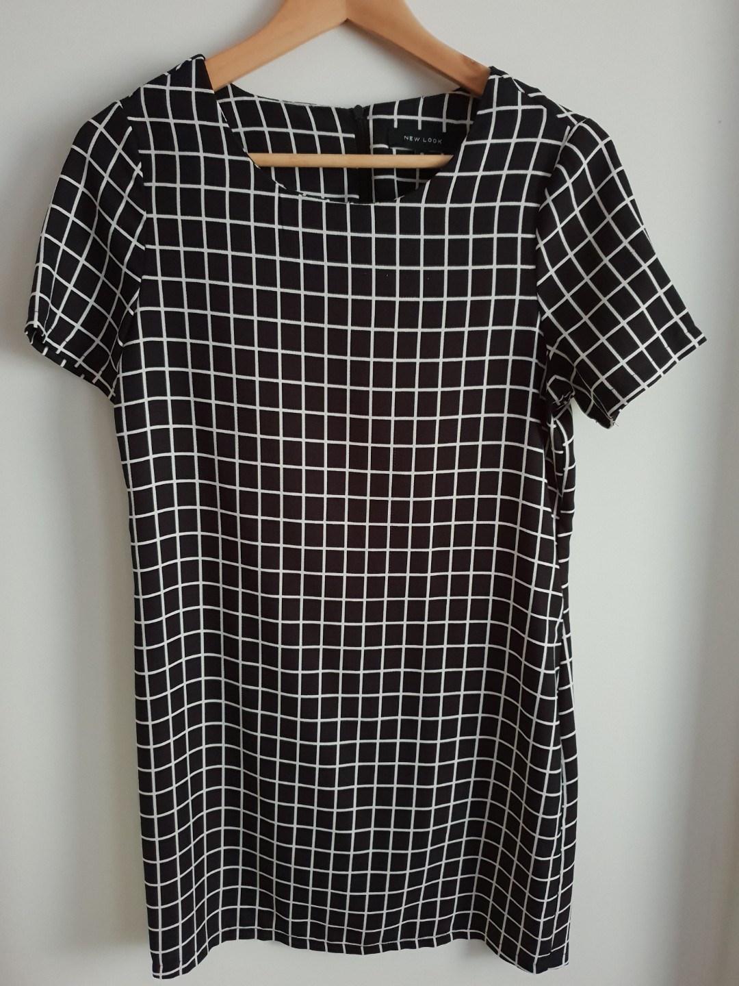f9126f1223 New Look Black and White Checked Dress
