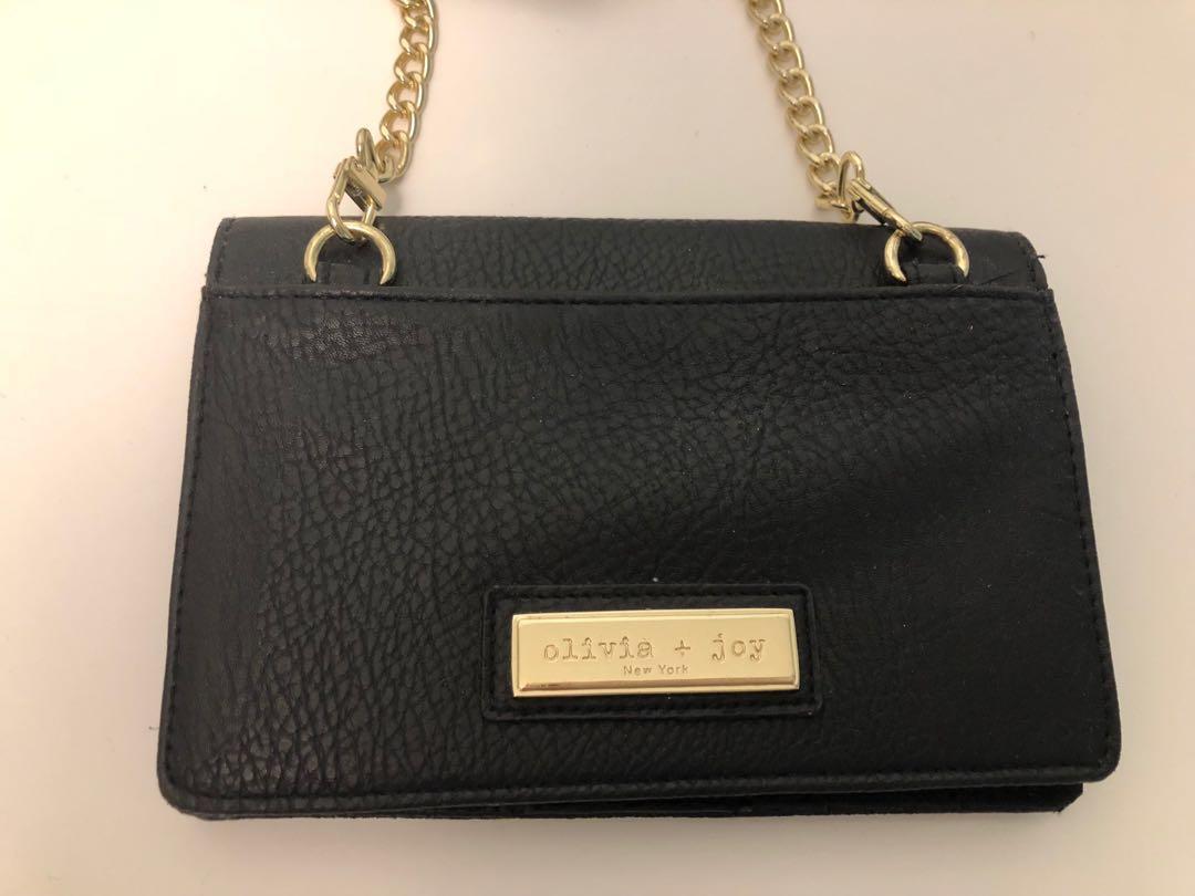 Olivia + Joy Black Cross-Body Wallet
