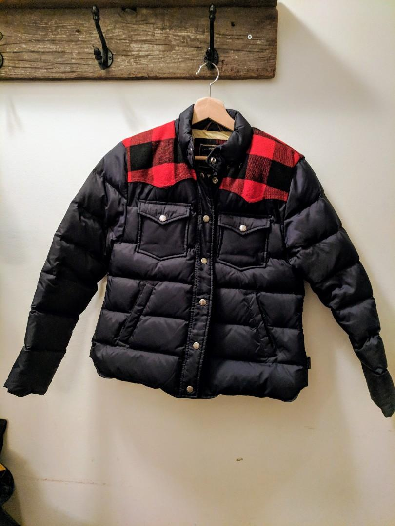 Penfield Puffer Coat with Buffalo Plaid