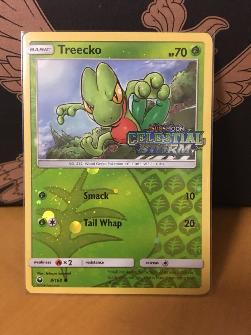 Pokemon Treecko Celestial Storm Stamped Promo Toys Games Board Cards On Carousell