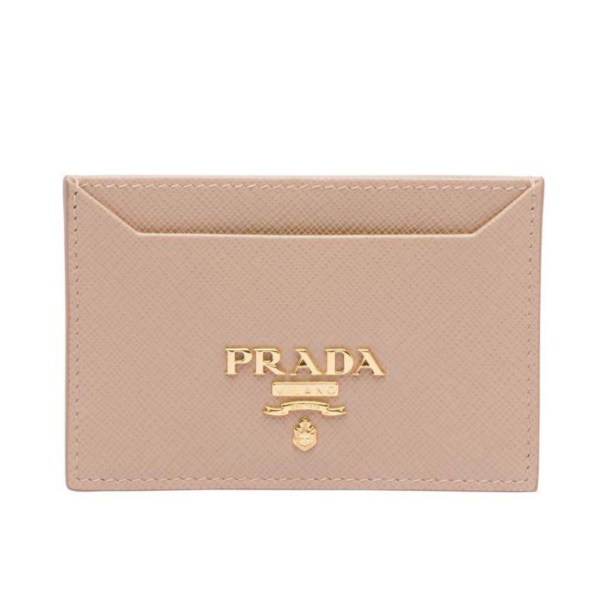 27abc249de99f4 PRADA Saffiano Leather Card Holder, Women's Fashion, Bags & Wallets ...