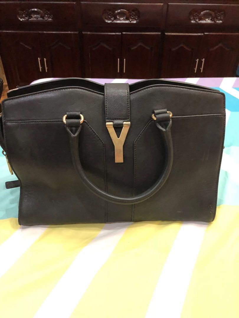 Pre owned ysl black cabas bag 15db0a7816