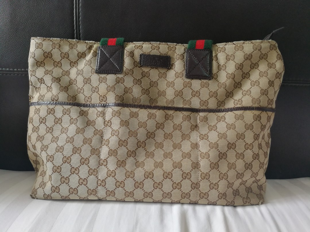 d7ea0de6716a Preloved Gucci Bag with Baby Changing Pad, Luxury, Bags & Wallets ...