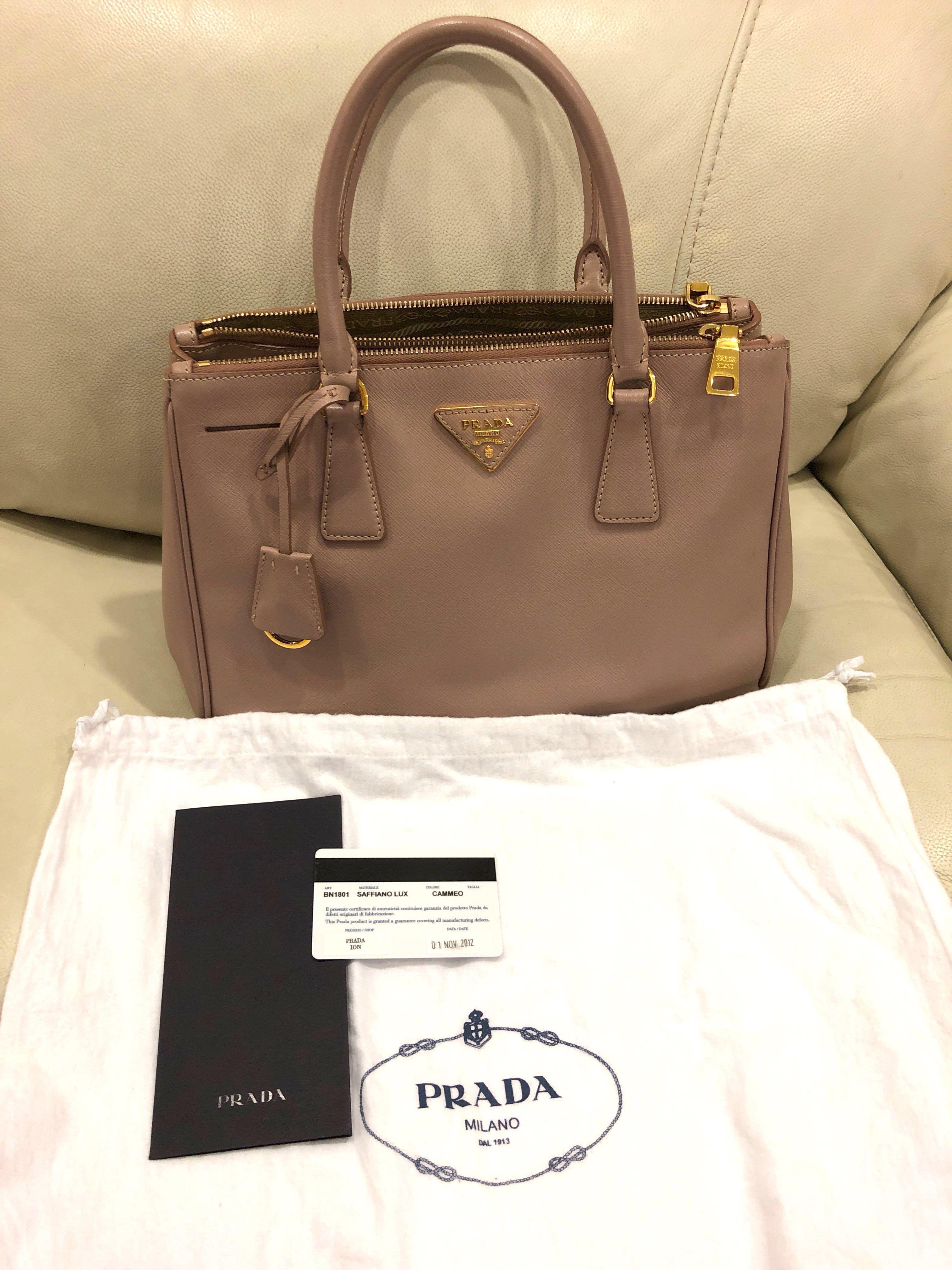 Preloved Prada Saffiano Lux BN1801 Cammeo , Luxury, Bags   Wallets, Handbags  on Carousell c25816251b