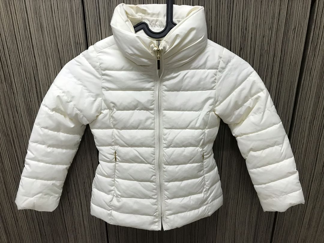 e3208b0e Preloved Zara Kid White Winter Down Jacket, Babies & Kids, Girls' Apparel,  4 to 7 Years on Carousell