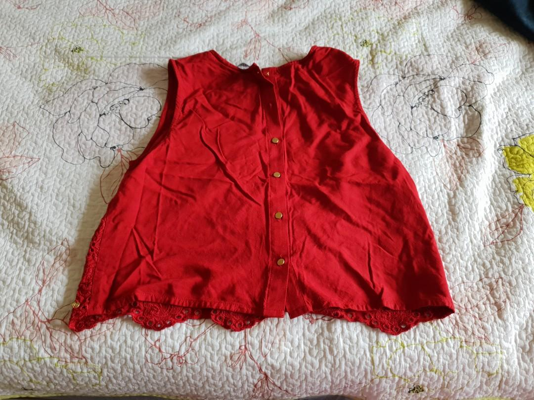 Red  rop top(worn once)10 aud and red flare top(never worn) 20 aud
