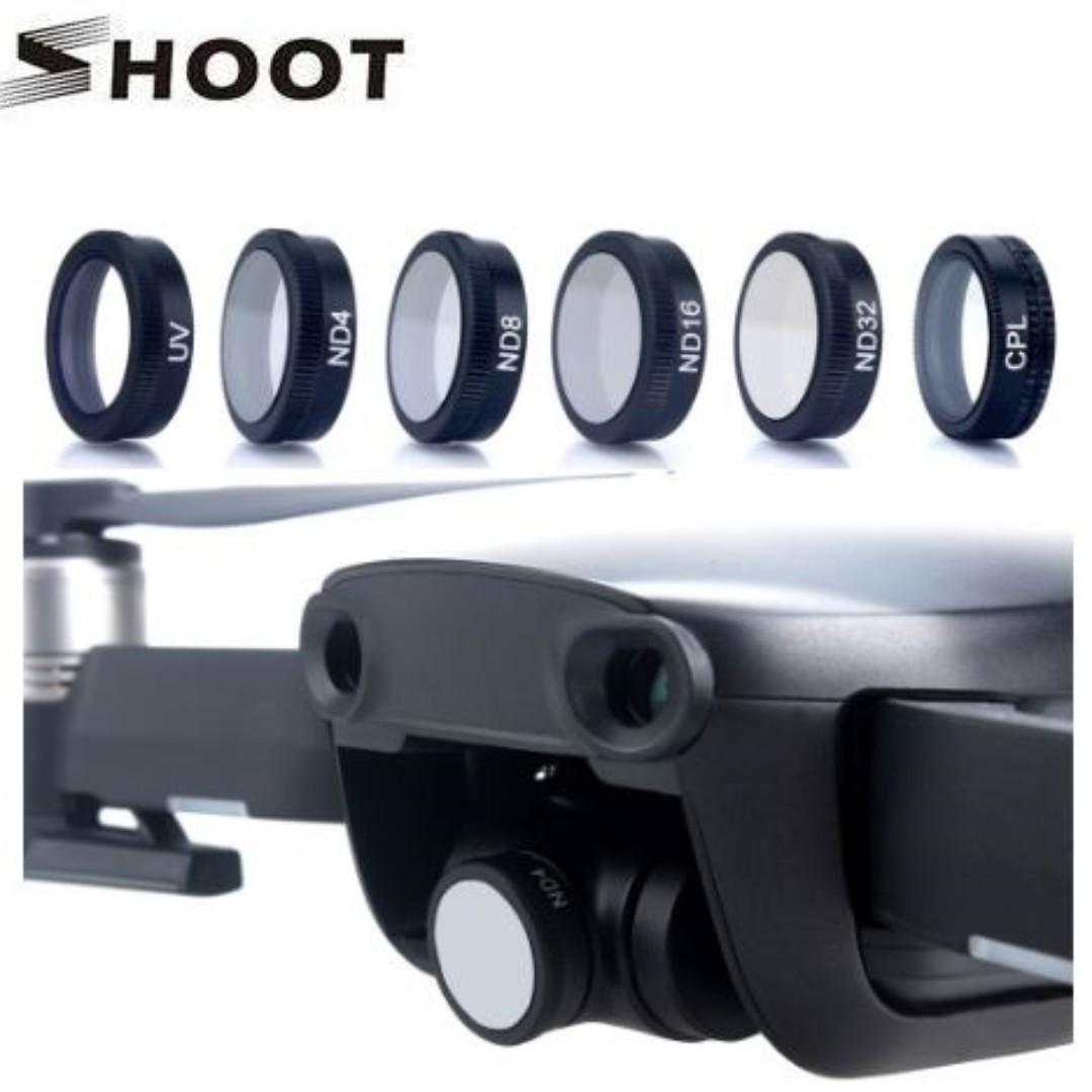 Shoot 6-in-1 Filter Sets for DJI Mavic Air (UV+CPL+ND4+ND8+ND16+ND32)