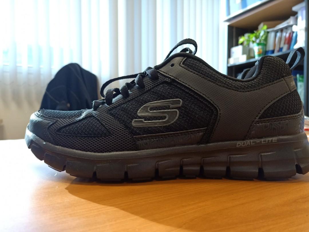 Skechers Dual Memory Lite Foam ShoesMen's Light Weight Black m08wvNnO