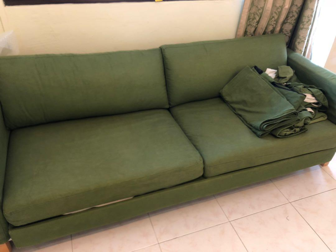 Sofa bed opens to Queen size + extra cover