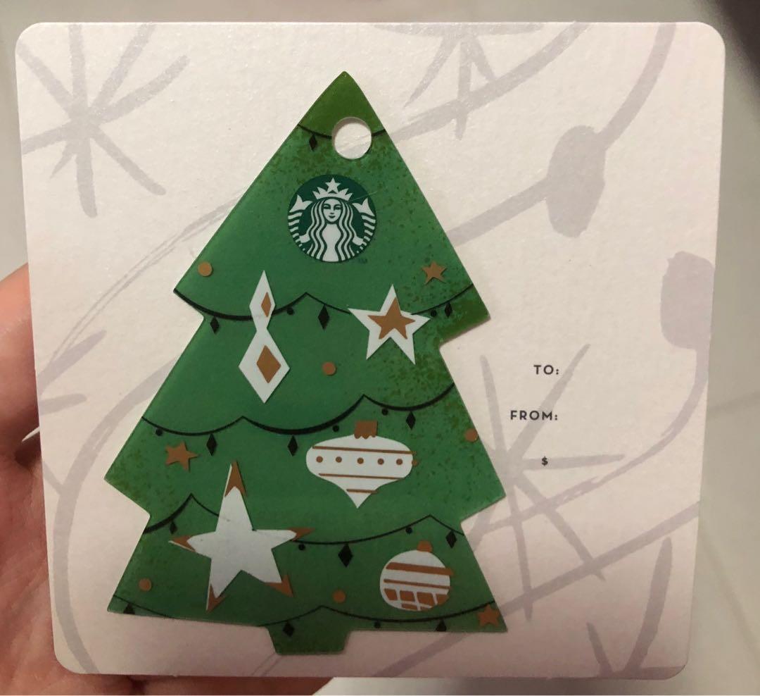 Starbucks Christmas Tree Gift Card Singapore Entertainment Gift Cards Vouchers On Carousell