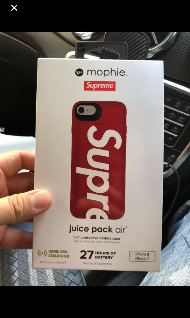 super popular c9a68 6de7c Supreme mophie iphone 8 juice pack air case