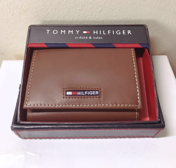 ef42e29c8e Tommy Hilfiger. Wallet. Men. TriFold. Leather. Valet. Genuine Leather.  Wallet. Brown. BNIB. AUTHENTIC., Men's Fashion, Bags & Wallets, Wallets on  Carousell