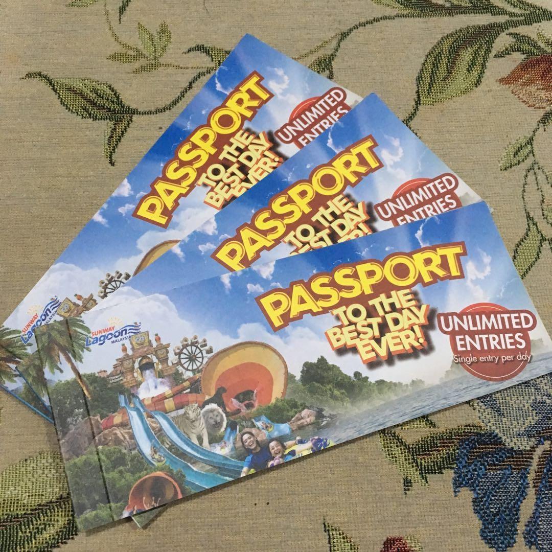 THREE Food Vouchers Sunway Lagoon Passport Book Vouchers