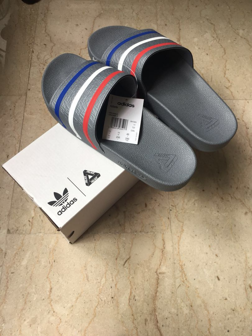 reputable site 0314b 03053 US11 Adidas Palace Slides, Men s Fashion, Footwear, Slippers   Sandals on  Carousell