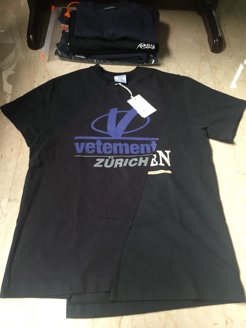 Vetements Zurich Tee Men S Fashion Clothes Tops On Carousell