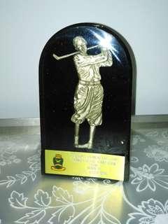 Golfer prize winner plaque