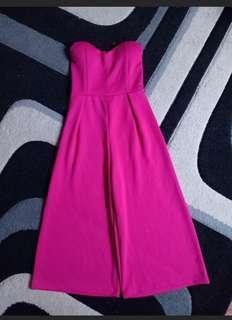 Jumpsuit tube pink kemben