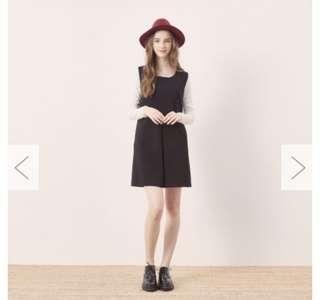 🚚 全新caco小清新背心洋裝 黑色短背心洋 吊帶洋裝