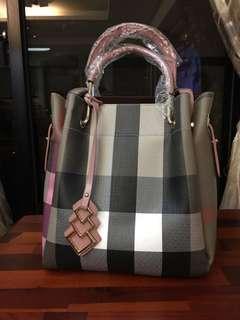 格紋時尚肩背包/女用手提包
