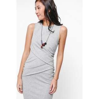 Love Bonito Ricatia Ruched Midi Dress
