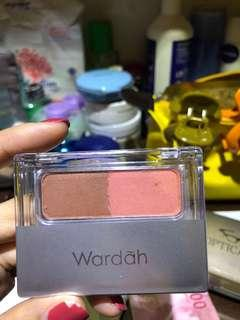 Wardah blush on dan countour