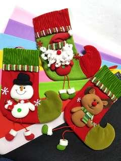 (L) X'mas Stocking ↪ with Plush Toy & Loose Legs 💱 $7.90 Each Piece