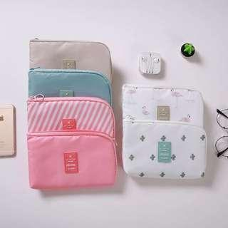 Pastel Colors handphone / travel / passport / laptop adaptor pouch Christmas gift