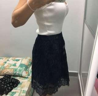 Navy blue Lacey Skirts