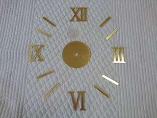 DIY Gold Frameless Wall Clock