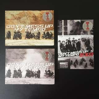 EXO Don't Mess Up My Tempo Album 3 Versions: Andante Allegro Moderato