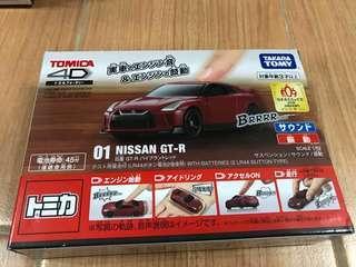 全新 Tomica 4D 01 Nissan GT-R 日產 1/62 GT-R 紅色