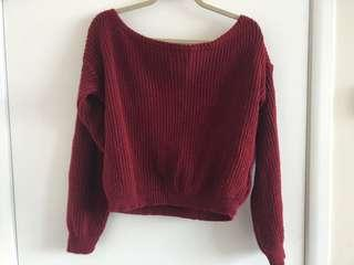 Boohoo off the shoulder sweater.