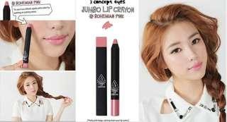 Bohemian pink jumbo lip crayon