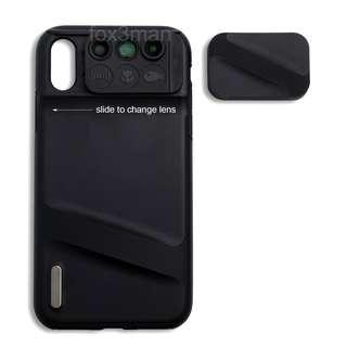 iPhone XR Case with Lens 微距/魚眼/廣角/遠攝 手機鏡頭+機套