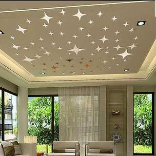 🚚 Twinkle Stars Ceiling DIY Mirror Effect 3D Wall Stickers