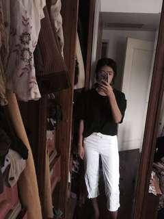 🚚 Zara白色牛仔寬褲