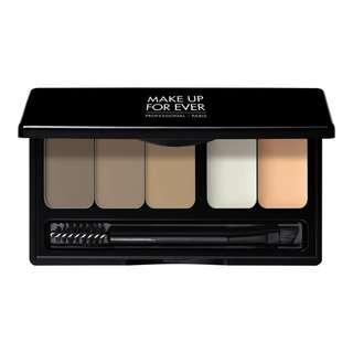BNIP Make Up For Ever Pro Sculpting Brow Palette (Harmony 1 - Blonde to Dark Brown)