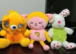 3 Boneka (kuning, pink, kelinci) take all 3