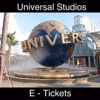 🚚 Universal Studio Singapore E Tickets