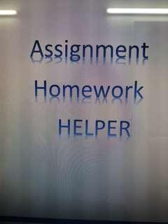 Homework Assignment Letter Exam Helper Tuitor
