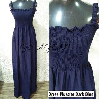 Dress plussize dark blue
