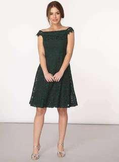 Dorothy Perkins off shoulder Lace dress連衣裙